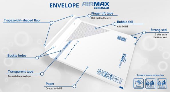 Luchtkussen enveloppen online bestellen